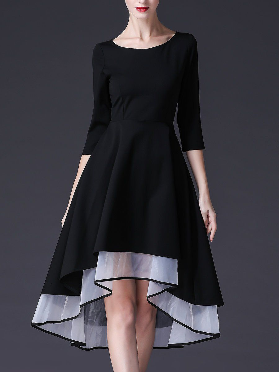 0aaa5a9a9e0b Dresses - Tiered High Low Half Sleeve Casual Midi Dress afflink ...