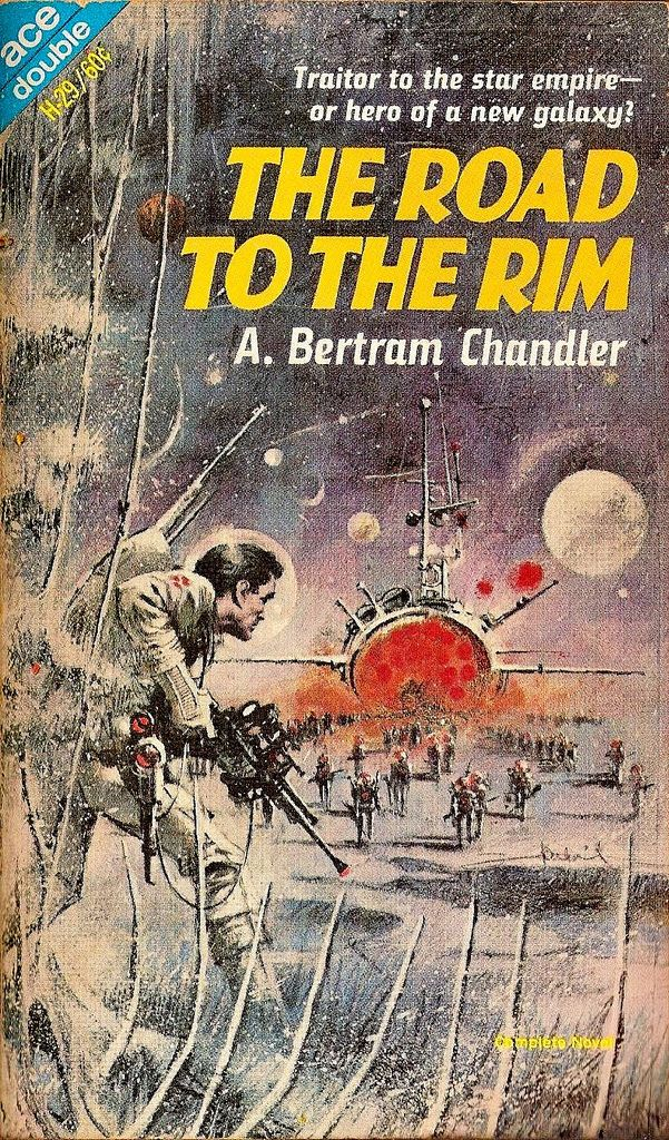 The Road to the Rim by A. Bertram Chandler. Cheesy vintage pulp sci-fi but a great cover