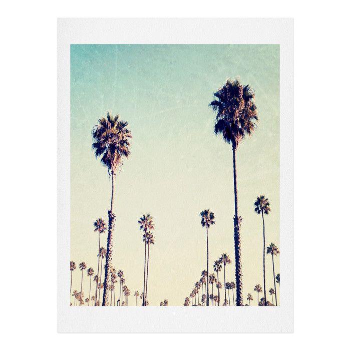 California Palm Trees Painting Print