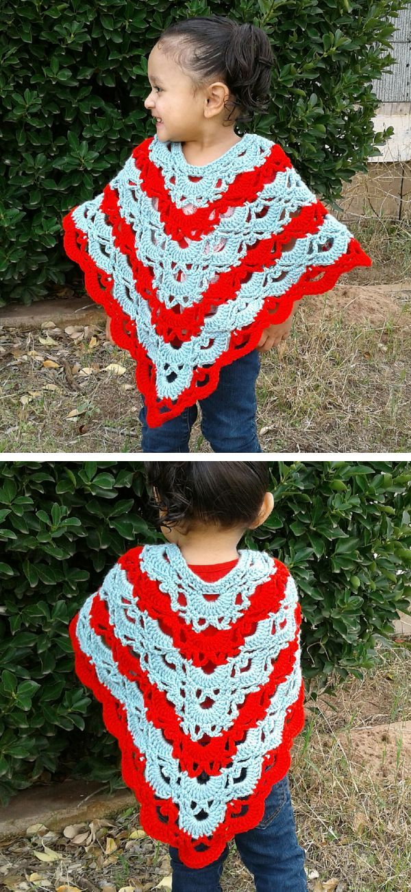 Stunning Crocheted Ponchos for Girls