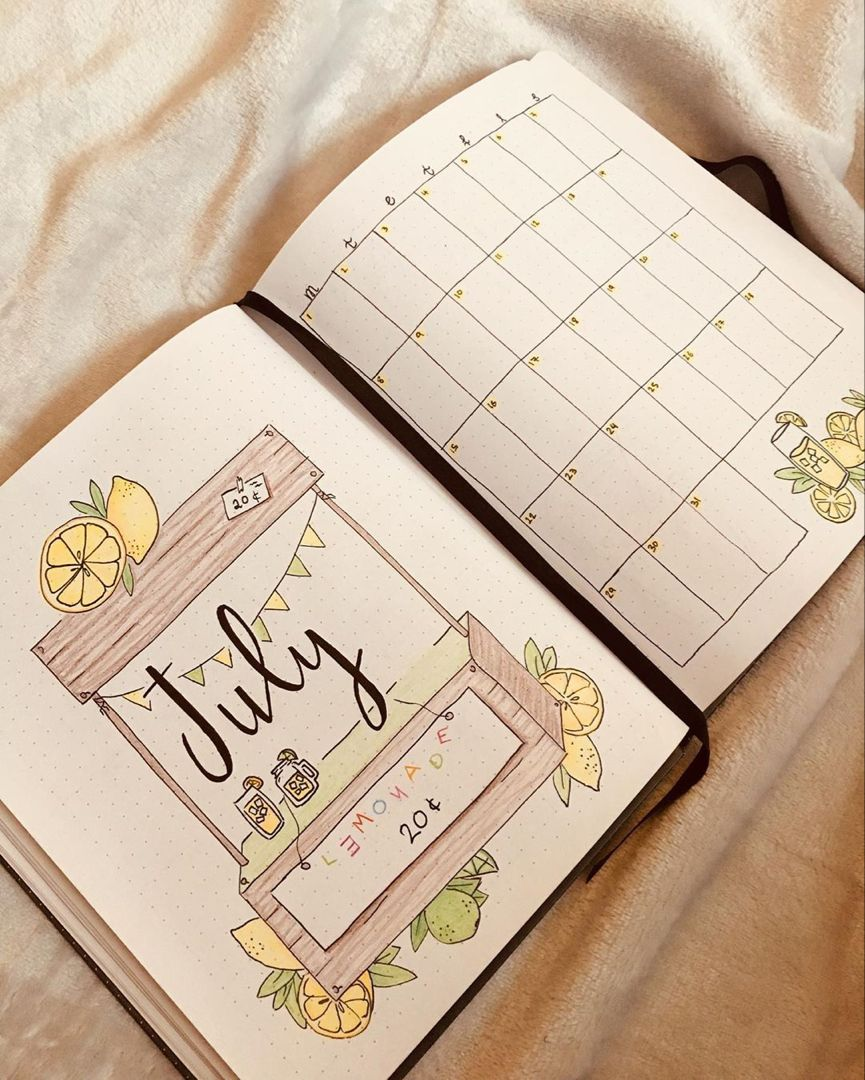 125 Creative July Bullet Journal Monthly Cover Page Ideas Bliss Degree Bullet Journal Month Bullet Journal Ideas Pages Bullet Journal