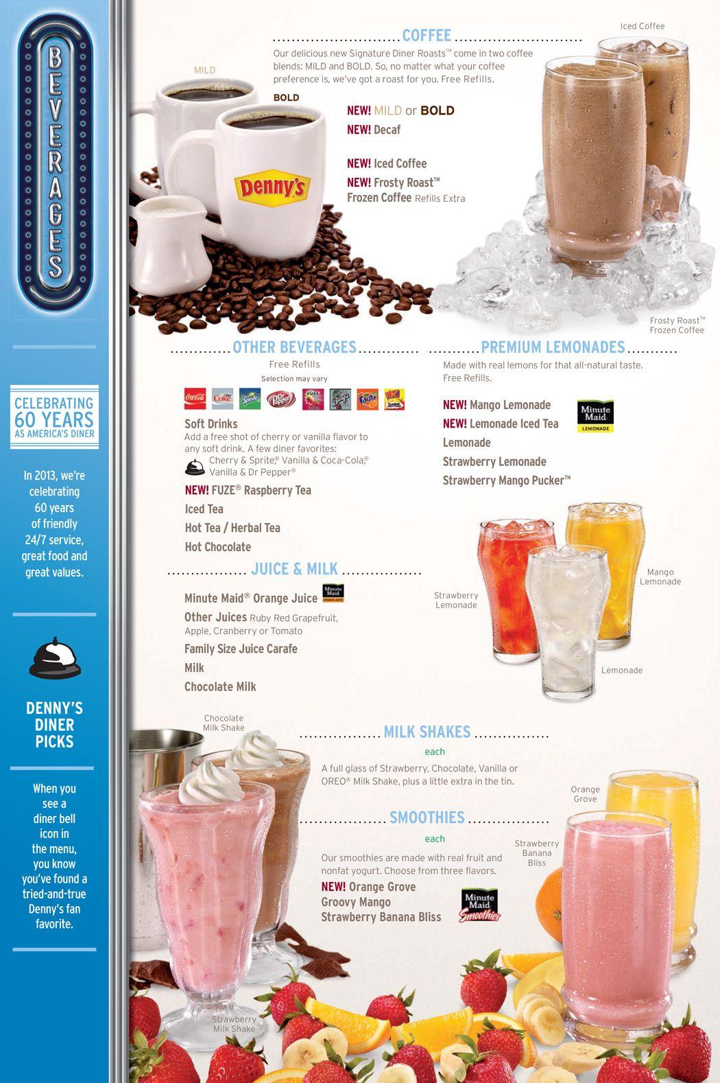 Dennys-menu-2 | Denny\'s | Pinterest | Menu, Refreshing drinks and Food