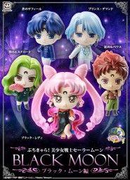 Sailor Moon: Petit Chara Pretty Soldier Black Moon Sammelfiguren Sortiment