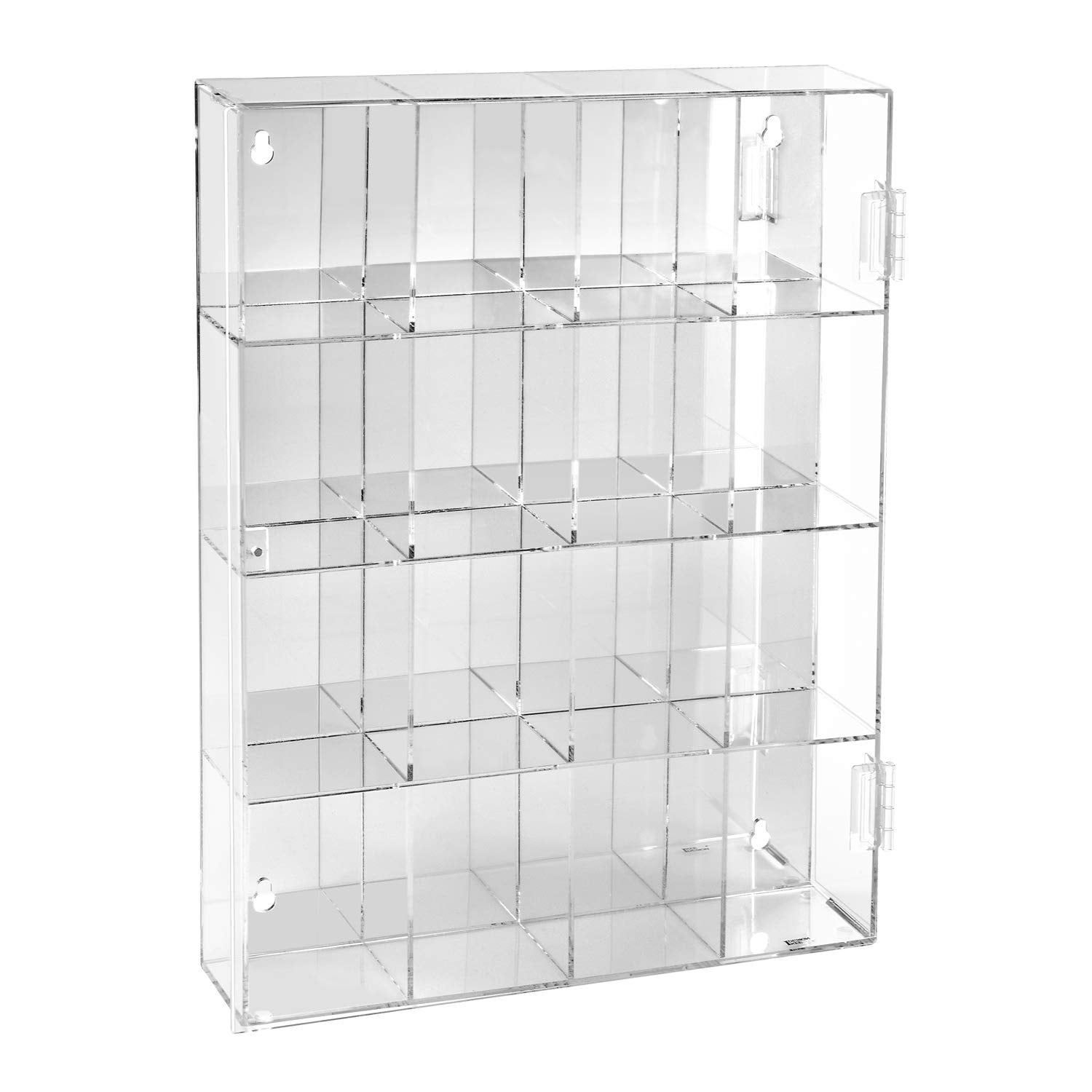 Ikee Design Acrylic Display Box With Mirrored Back 16 Compartments N A Clear Acrylic Acrylic Display Box Wall Display Case Acrylic Display