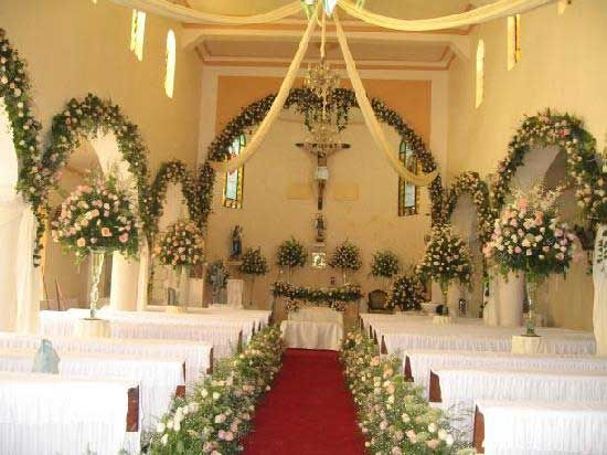 Elegant church wedding decoration ideas download wedding for Church wedding decorations