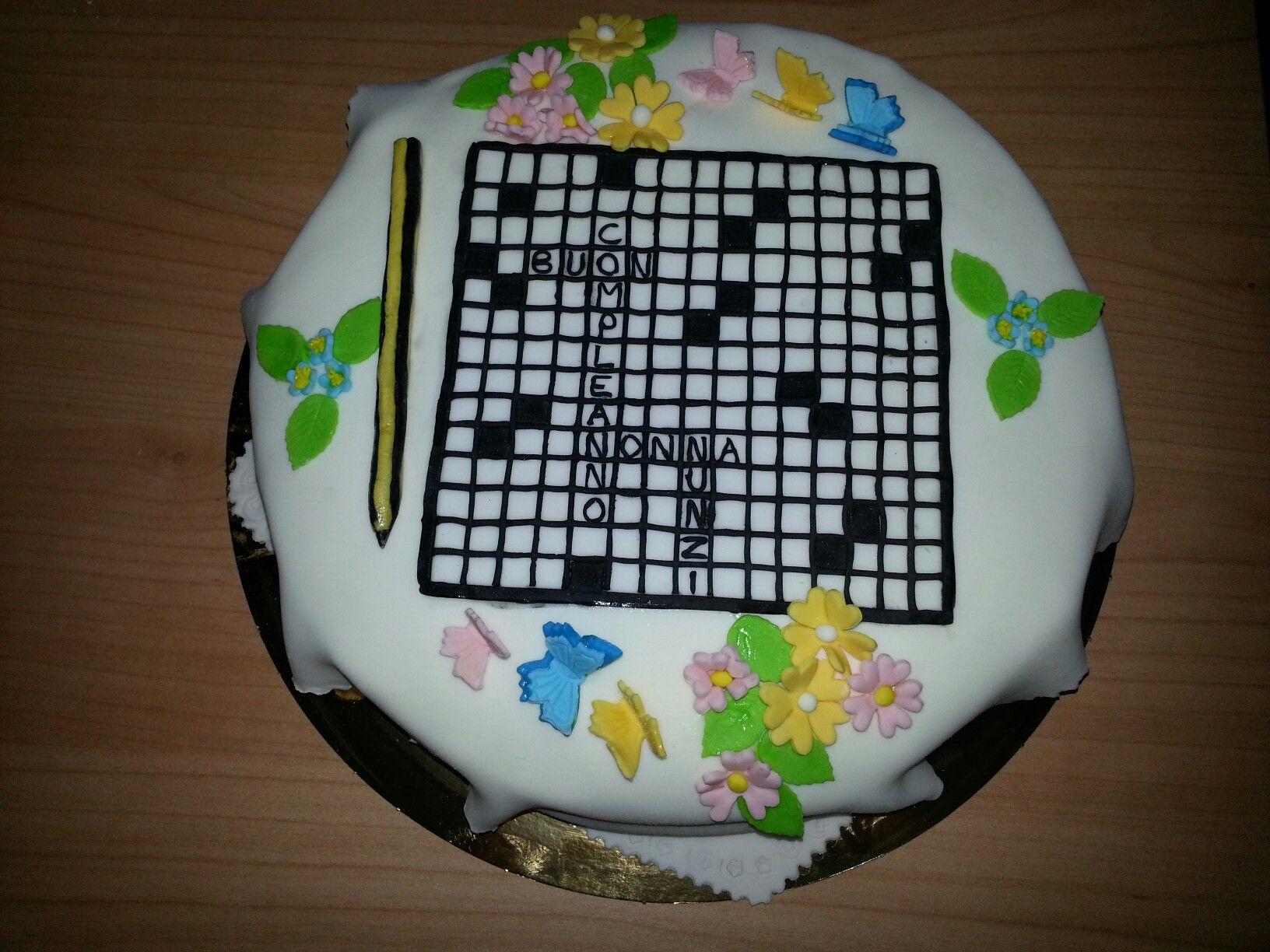 Torta Cruciverba