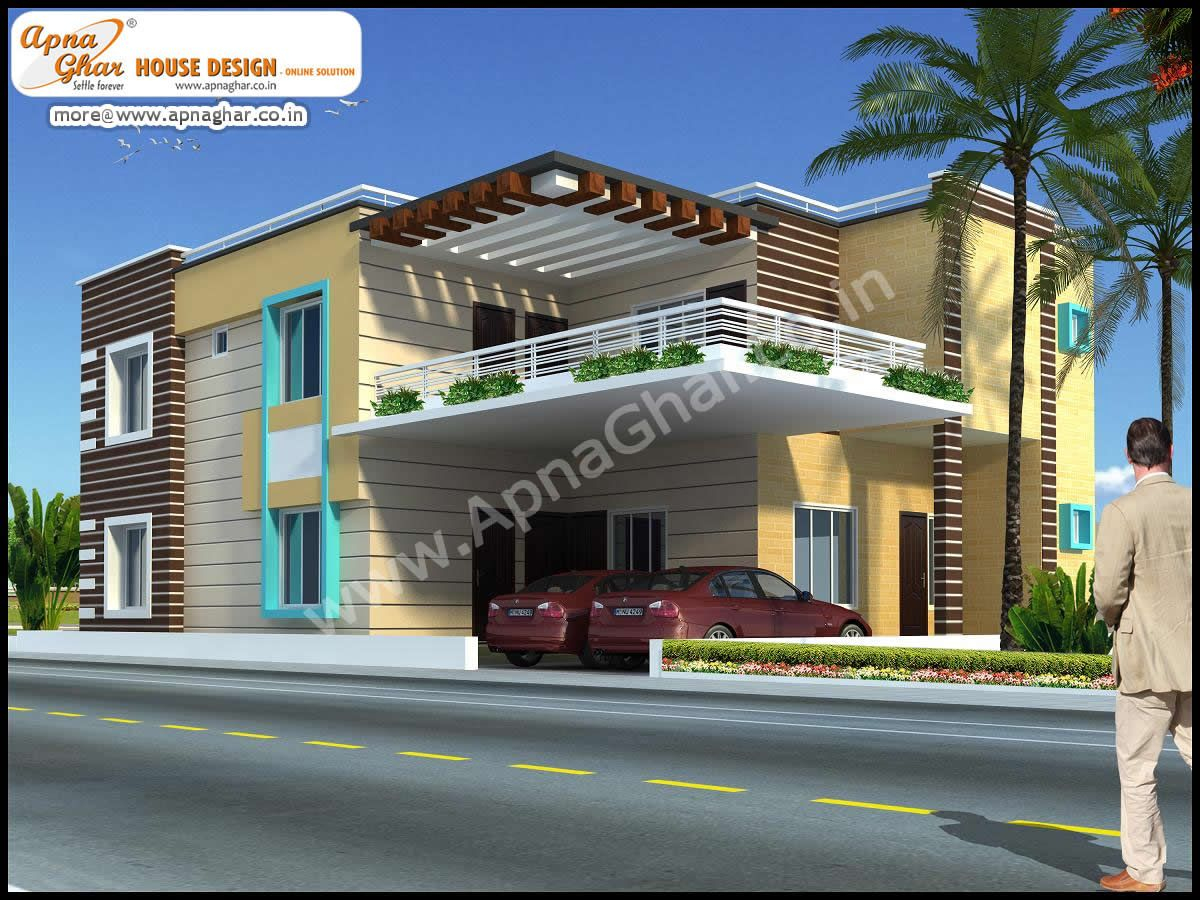 5 bedroom modern duplex 2 floor house design area for Modern house details