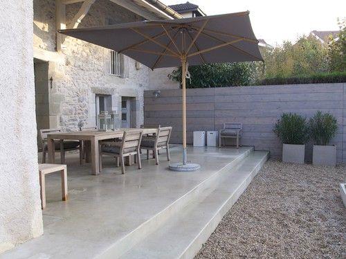 Cemento pulido en terraza y escalones pisos concrete patio patio y concrete floors - Suelo de microcemento pulido ...