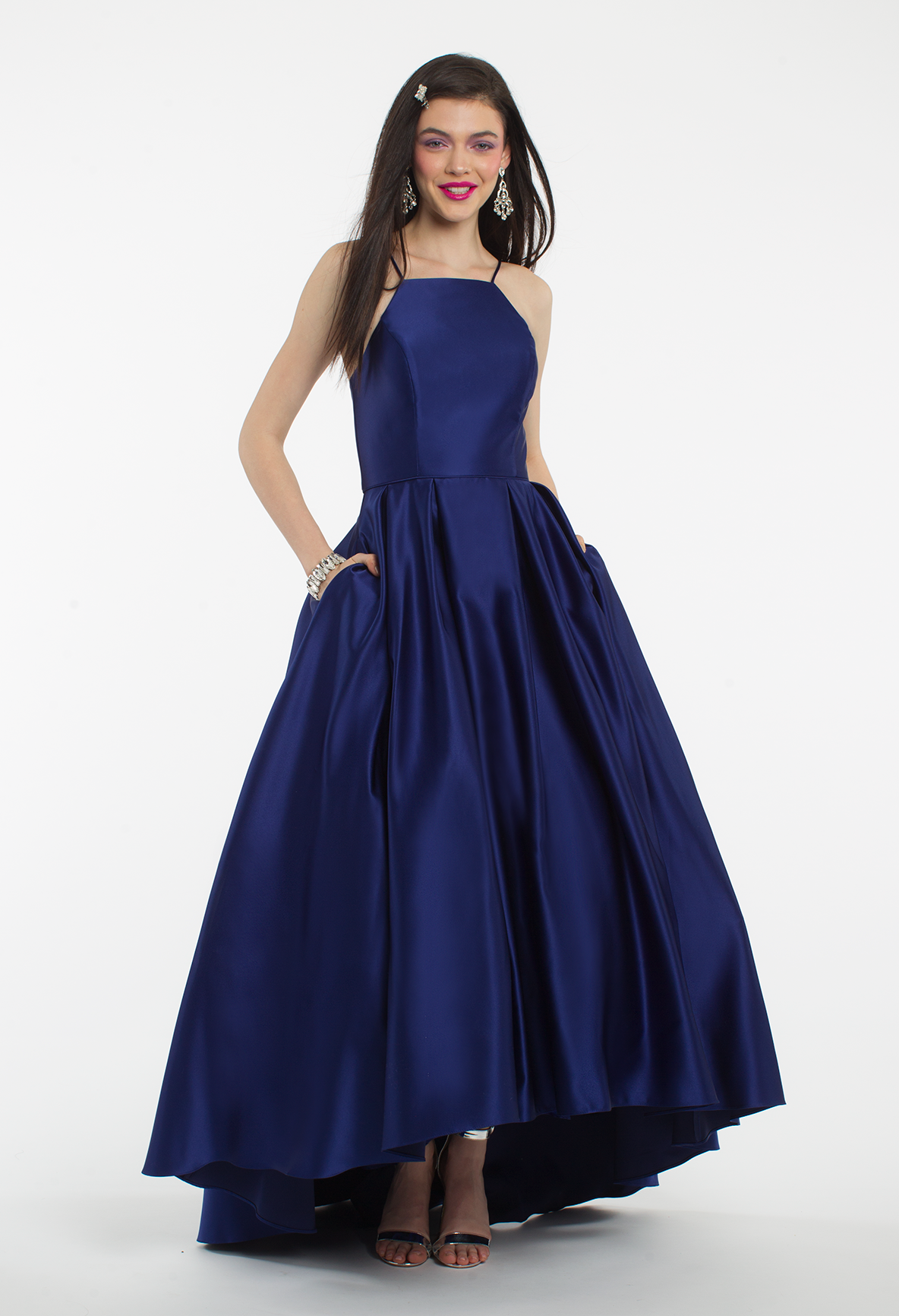 Spaghetti Strap Satin High Low Ball Gown Trend Alert High Low
