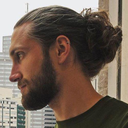 23 Best Man Bun Styles (2020 Guide) Medium hair styles