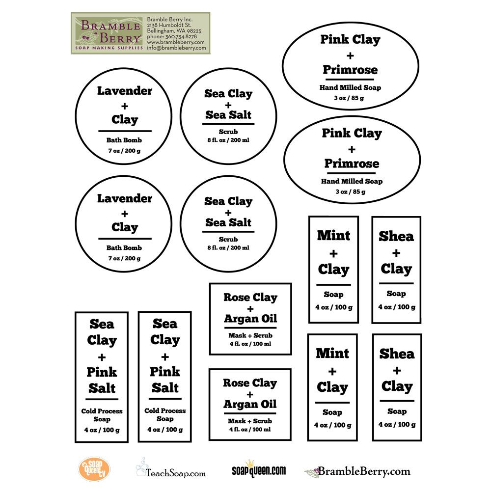 Cleansing Clay Label Template, downloadable PDF | Labels | Pinterest ...