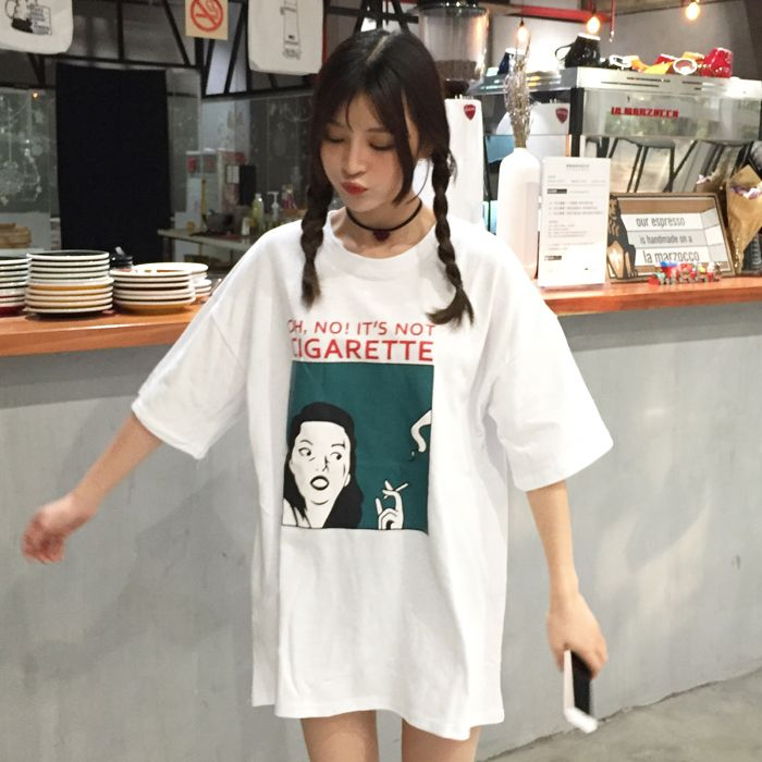 3348b45a84785 Click to Buy << T Shirt Woman 2017 Summer Fashion Tee Shirt Korea ...
