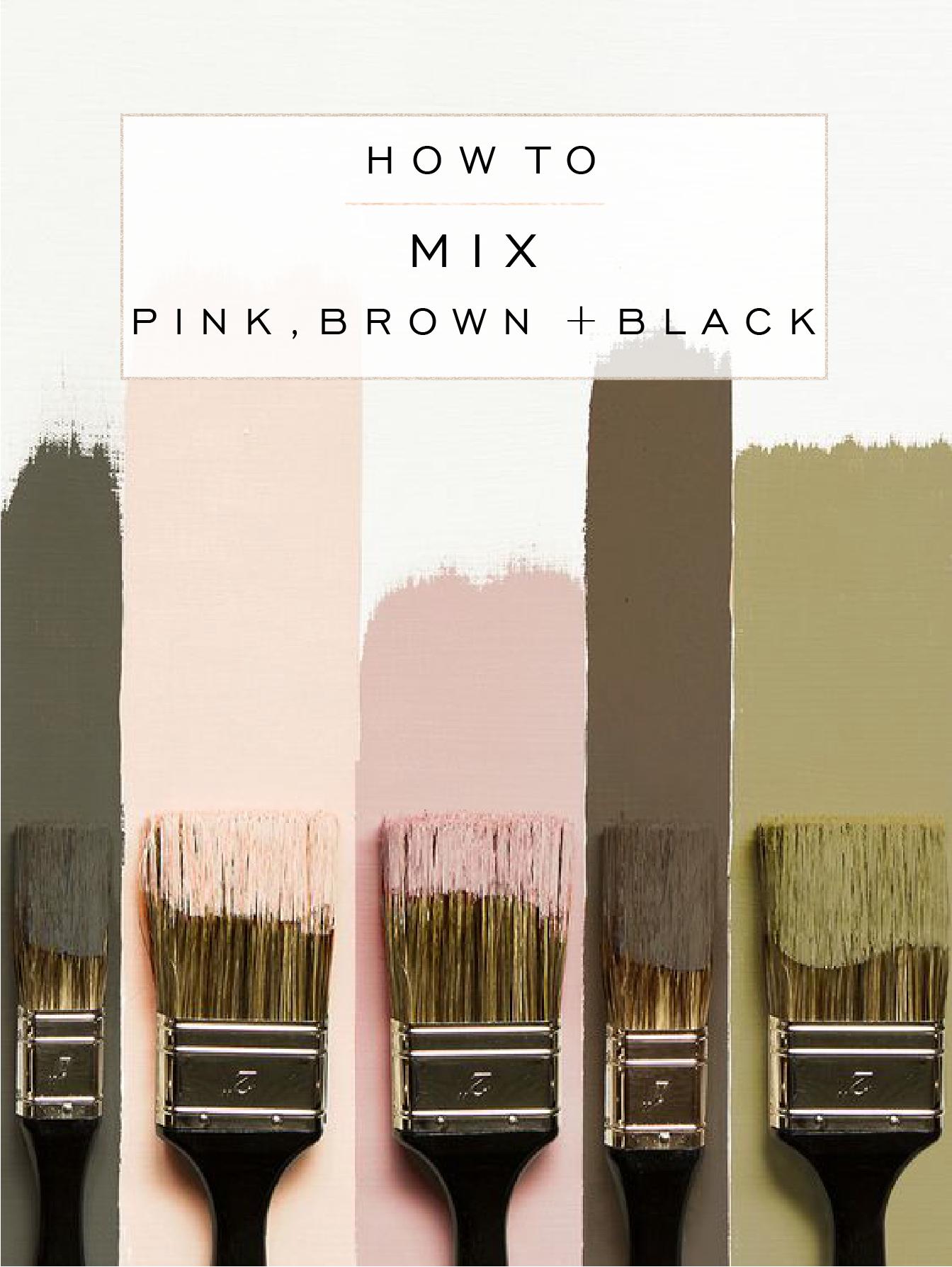 How To Mix Pink Brown Black Little Blue Deer Custom Blog