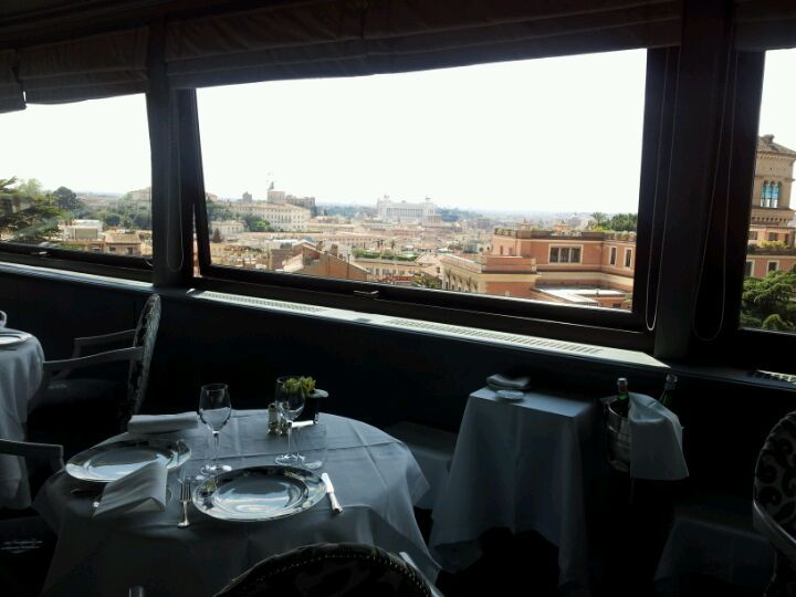Restaurant looks a little stuffy but the view is amazing. La ...
