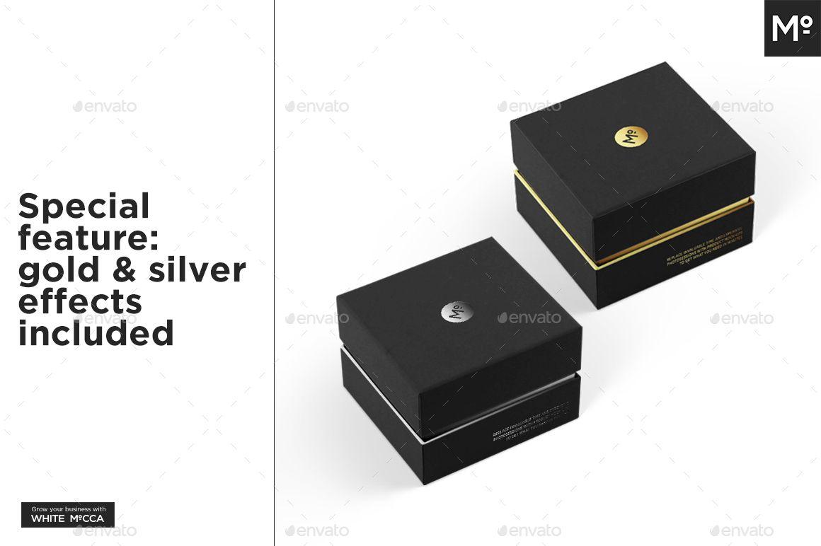 6730+ Box Jewelry Mockup Packaging Mockups PSD