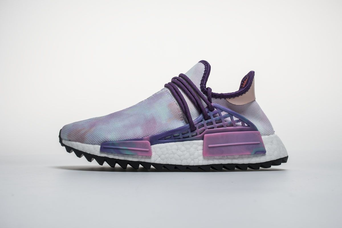 3ea0e1cce2d11 Pharrell x Adidas NMD Hu Trail Pink Glow AC7362 Real Boost for Sale1 ...