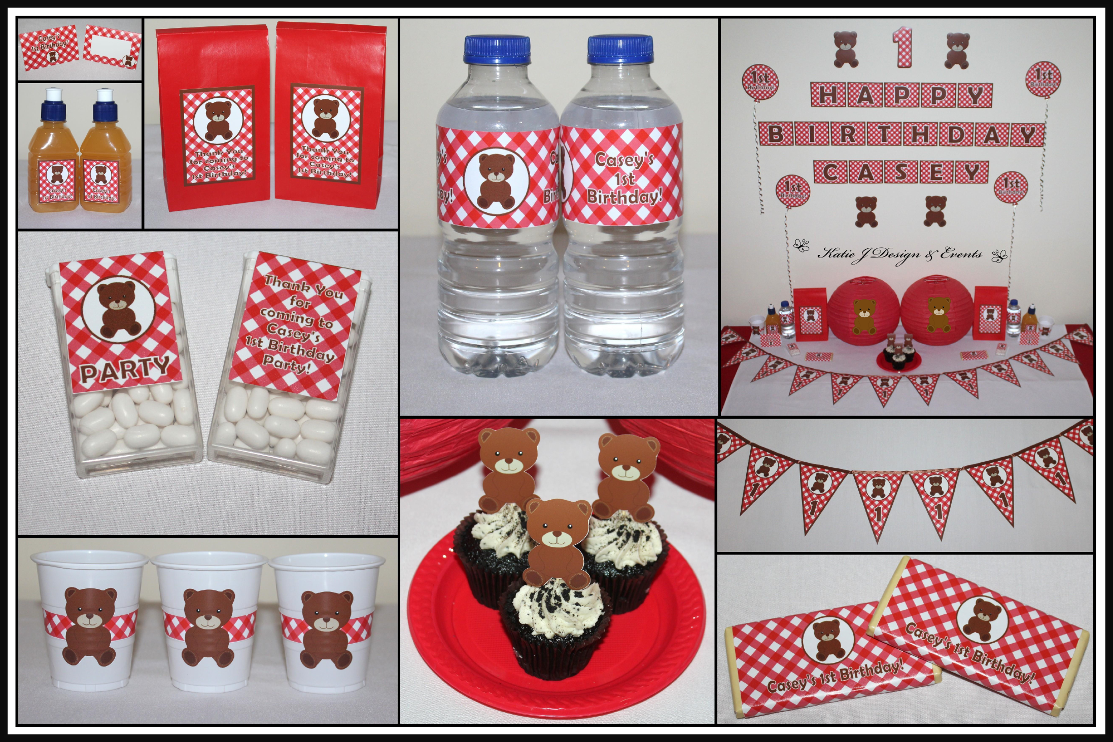 Shop Online PERSONALISED TEDDY BEARS PICNIC Party Decorations