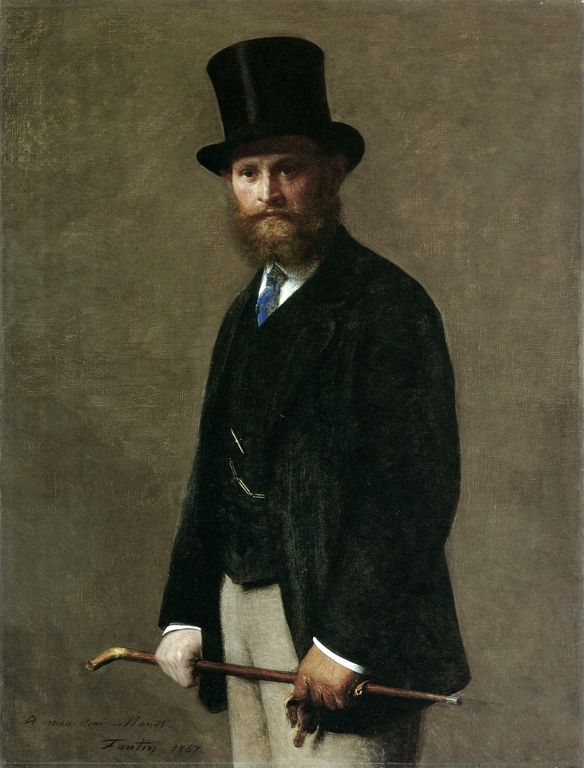 portrait of edouard manet 1867 by henri fantin latour pendant l 39 t manet se rend chez claude. Black Bedroom Furniture Sets. Home Design Ideas