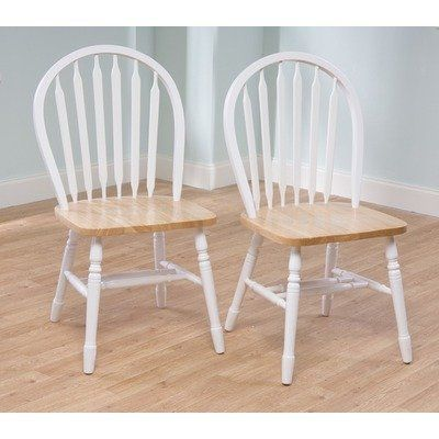 Arrowback Chair In White Natural By Tms 84 99 11848wht