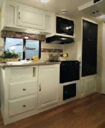 High Quality Zoom Travel Trailer Interior   718QB Model