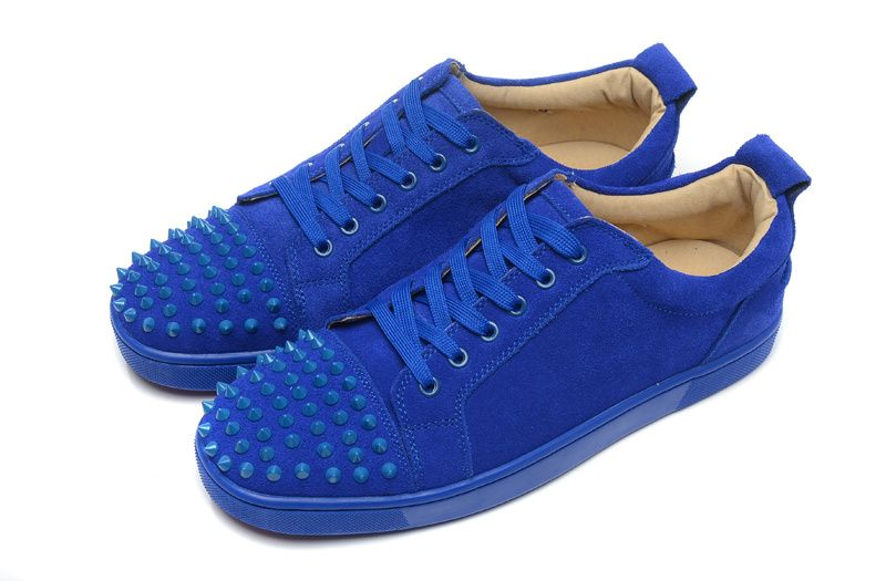be3745ec7a3b Mens Christian Louboutin Blue Spike