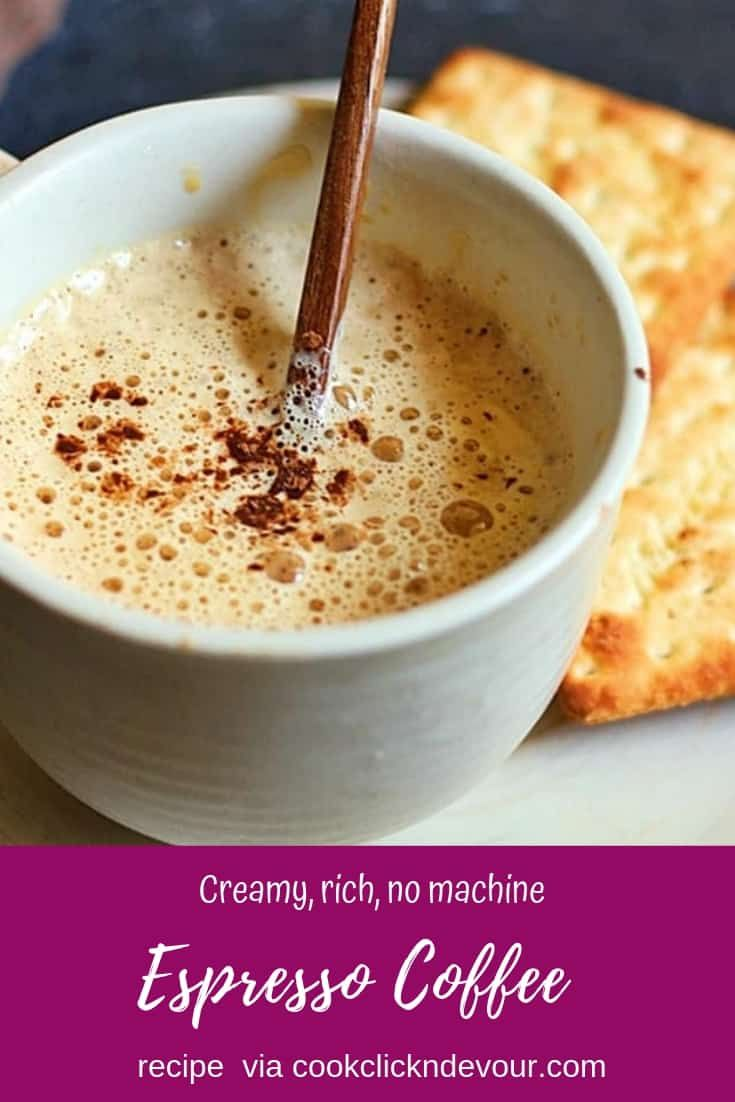 Espresso coffee recipe with step by step photos easy to