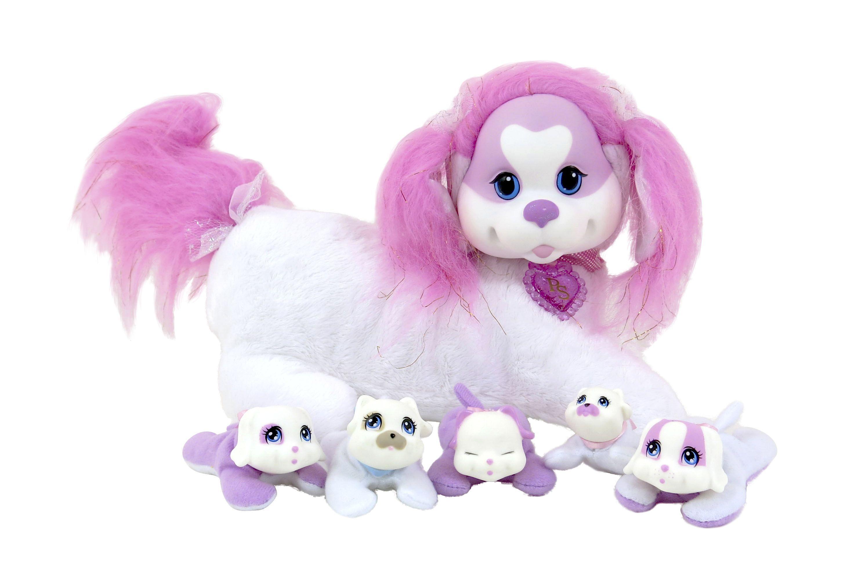 Puppy Surprise-koira (Vain BR:ssä). Tuleekohan pentuja 3,4, vai 5? Kolme eri värivaihtoehtoa. Emon vatsassa tarrakiinnitys. Ikäsuositus 3+, 26,99€ (norm. 29,99€), BR-lelut, 3.krs