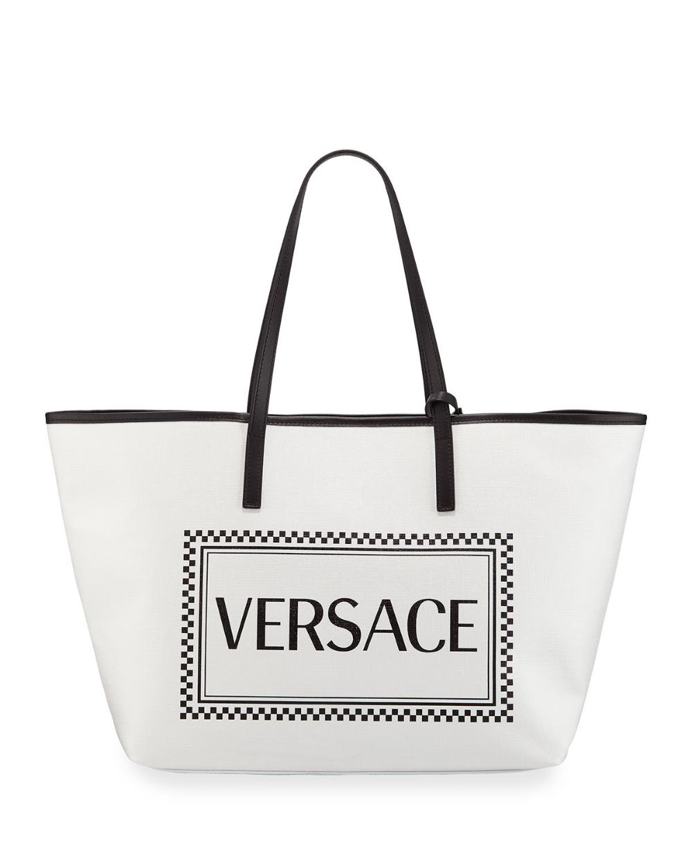 Versace 90s Logo Small Tote Bag Small Tote Bags Small Tote Tote Bag