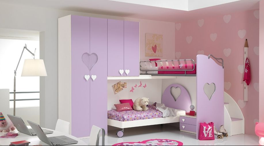 Habitacion infantil con literas ni a decoraci n - Decoracion cuarto infantil nina ...