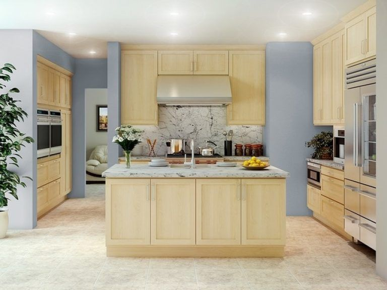 Natural Maple Kitchen Cabinets Dazzling Natural Maple ...