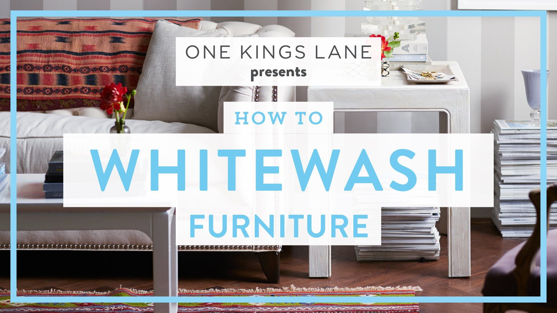 One Kings Lane Weekend Decorator How To Whitewash Furniture  # Muebles Long Lane