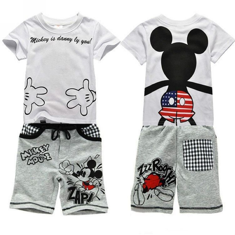 7a4431716 Cheap 2014 mickey mouses de los bebés de la ropa de deportes 3 ~ 7 ...