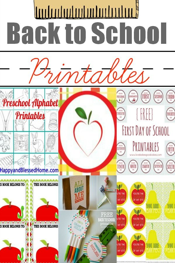 10 back to school printables back to school pinterest school