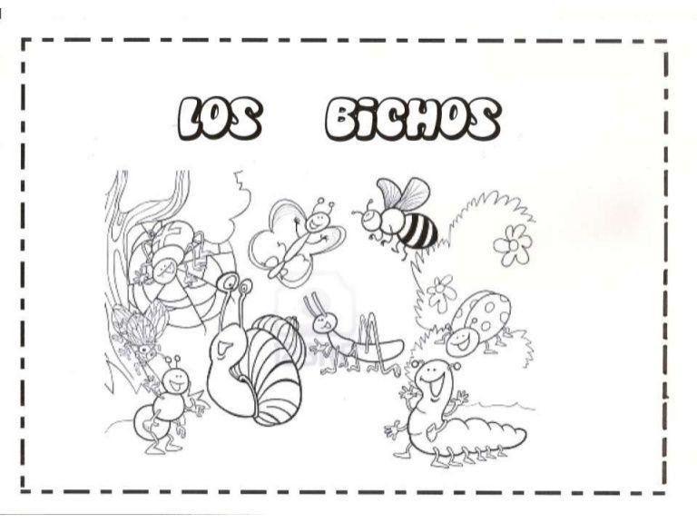 Proyecto para Infantil sobre bichos, para unir, pintar, pegar ...