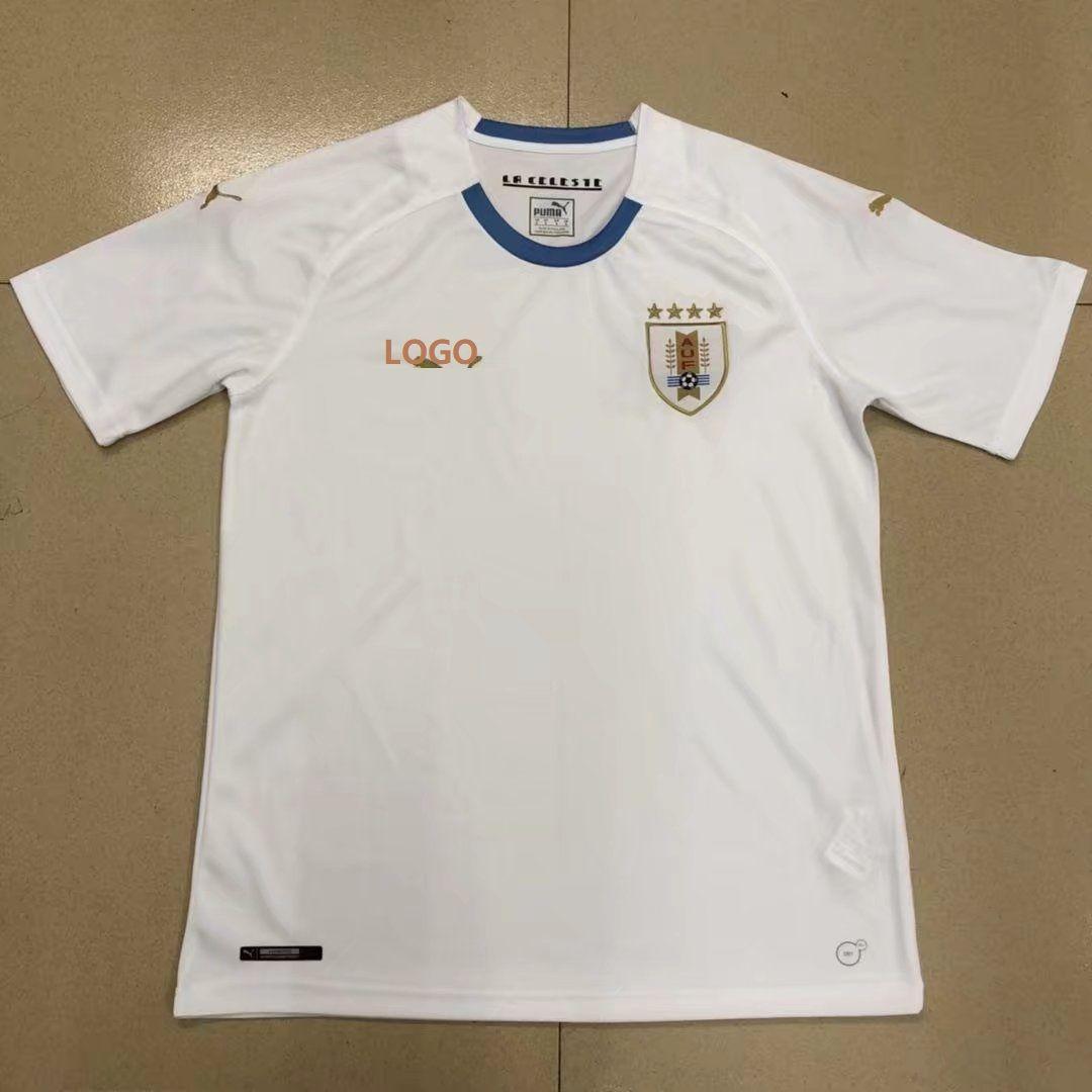 d2cb224a7d5 18-19 Uruguay Away white Soccer Jersey -Thai Qualit