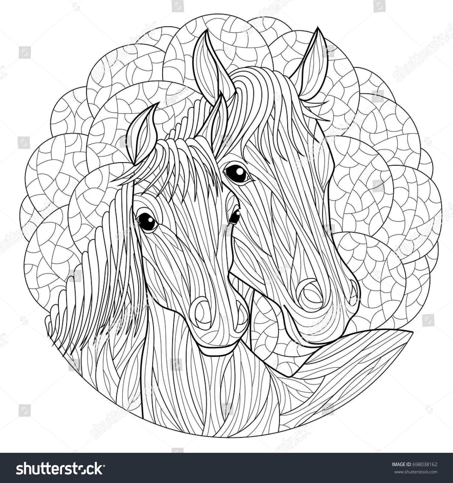 Pin Von Barbara Auf Coloring Horse Zebra In 2020