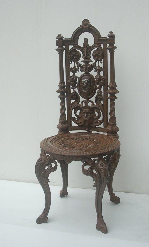 Chaise de jardin en fonte - XIXème siècle, époque Napoléon ...
