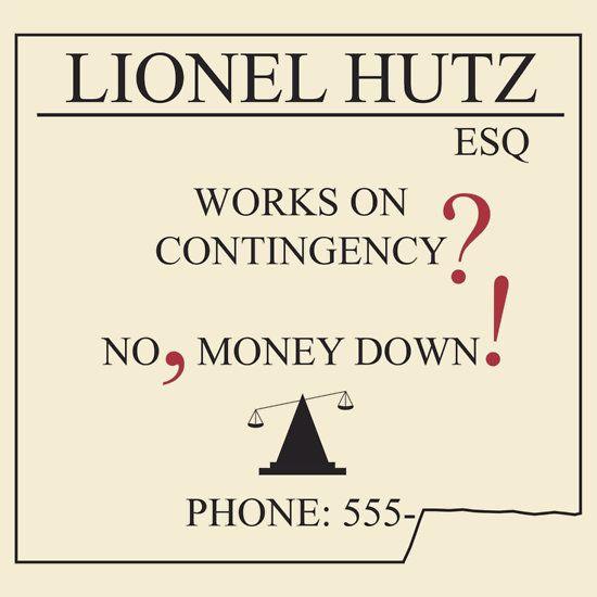 The simpsons lionel hutz money down unisex t shirt lawyers the simpsons lionel hutz money down colourmoves