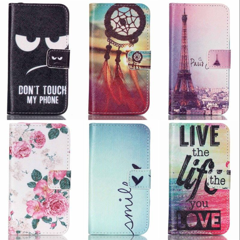 For Samsung Galaxy J2 J200 J200F Case Cartoon Design Magnetic Holster Flip PU Leather Phone Cases Back Cover
