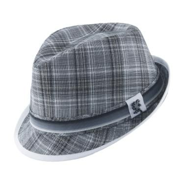 89dc4e24a06 Stacy Adams Men s Modern Plaid Fedora Hat - Stripe Ribbon Band - Clothing  Connection Online