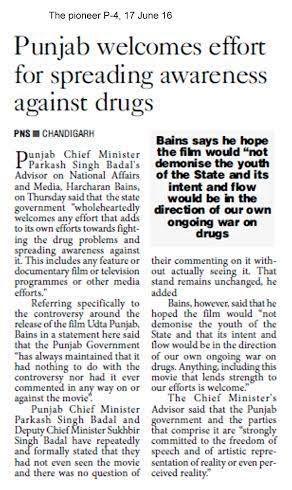 Punjab Welcomes Effort for Spreading Awareness Against Drugs #WeSupportSAD #ShiromaniAkalidal