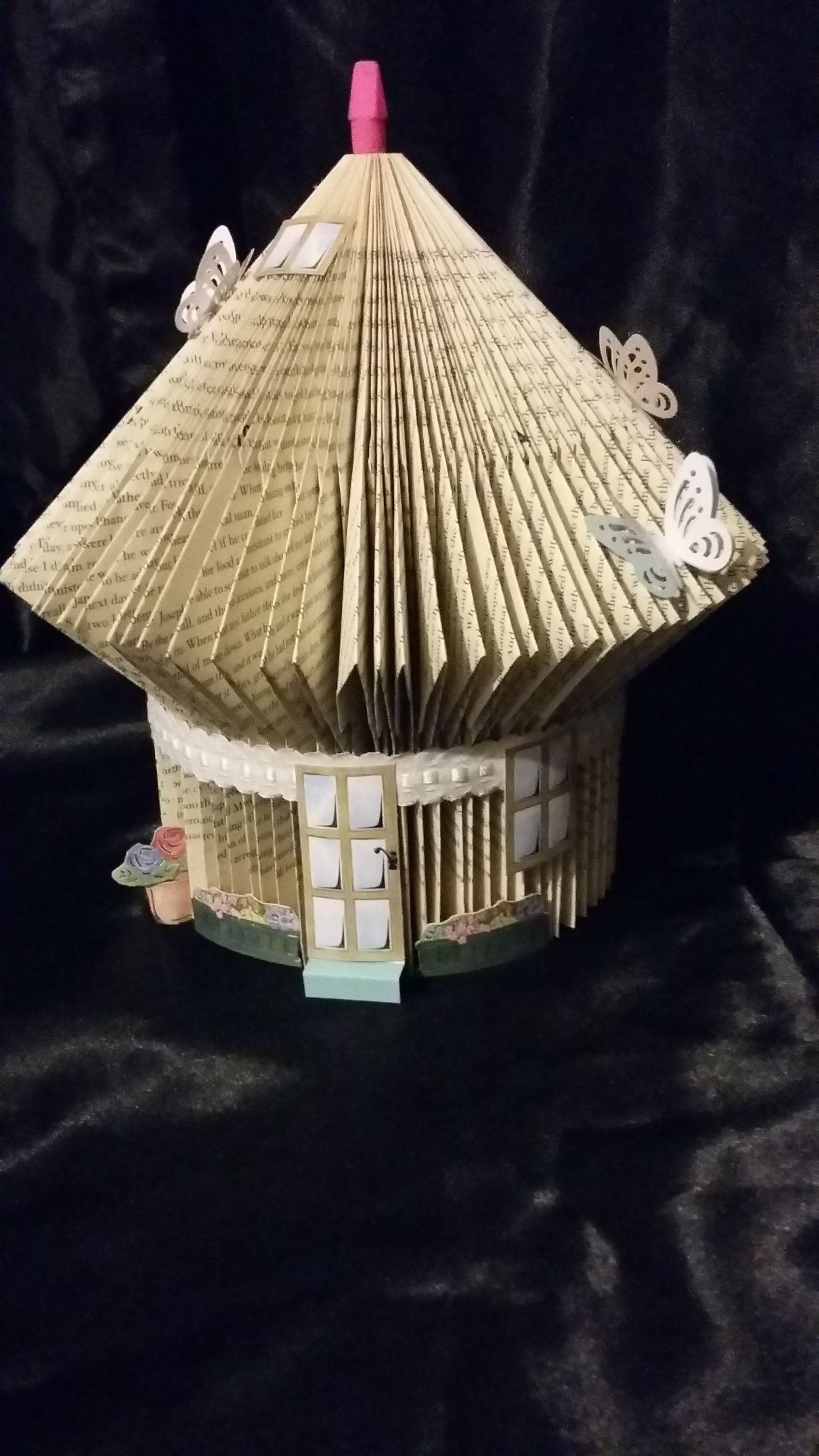 How To Make A Book Hedgehog : Book folding step by tutorial fold a fairy house