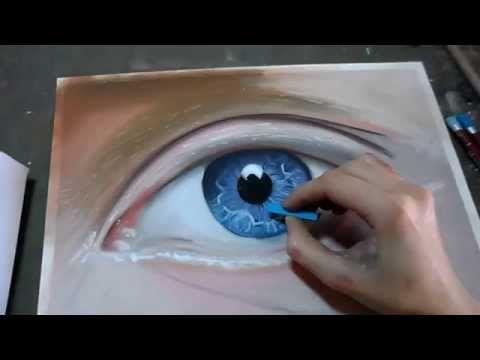 Assez œil bleu réaliste pastel sec | video kredki | Pinterest | Yeux  BB17