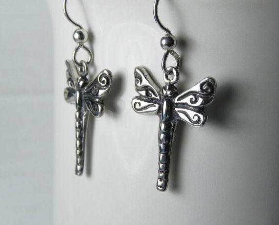 Dragonfly Earrings  Dragon fly Jewelry  by FantaSeaJewelry on Etsy