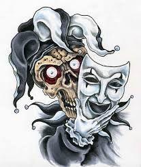 evil jester clown tattoo design tattoobite com junes tattoo rh pinterest ca evil jester tattoo designs evil joker skull tattoo designs