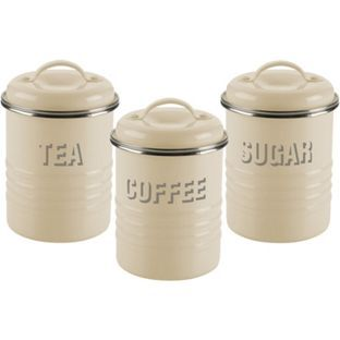 Buy Typhoon Vintage Kitchen Set Of 3 Storage Canisters   Cream At Argos.co.