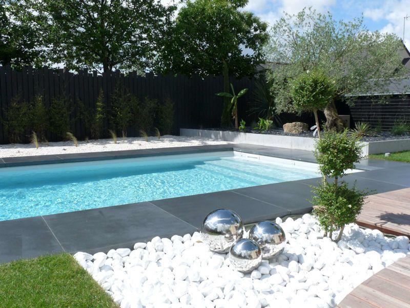 Construire Terrasse Piscine Galets Amenagement Jardin Terrasse