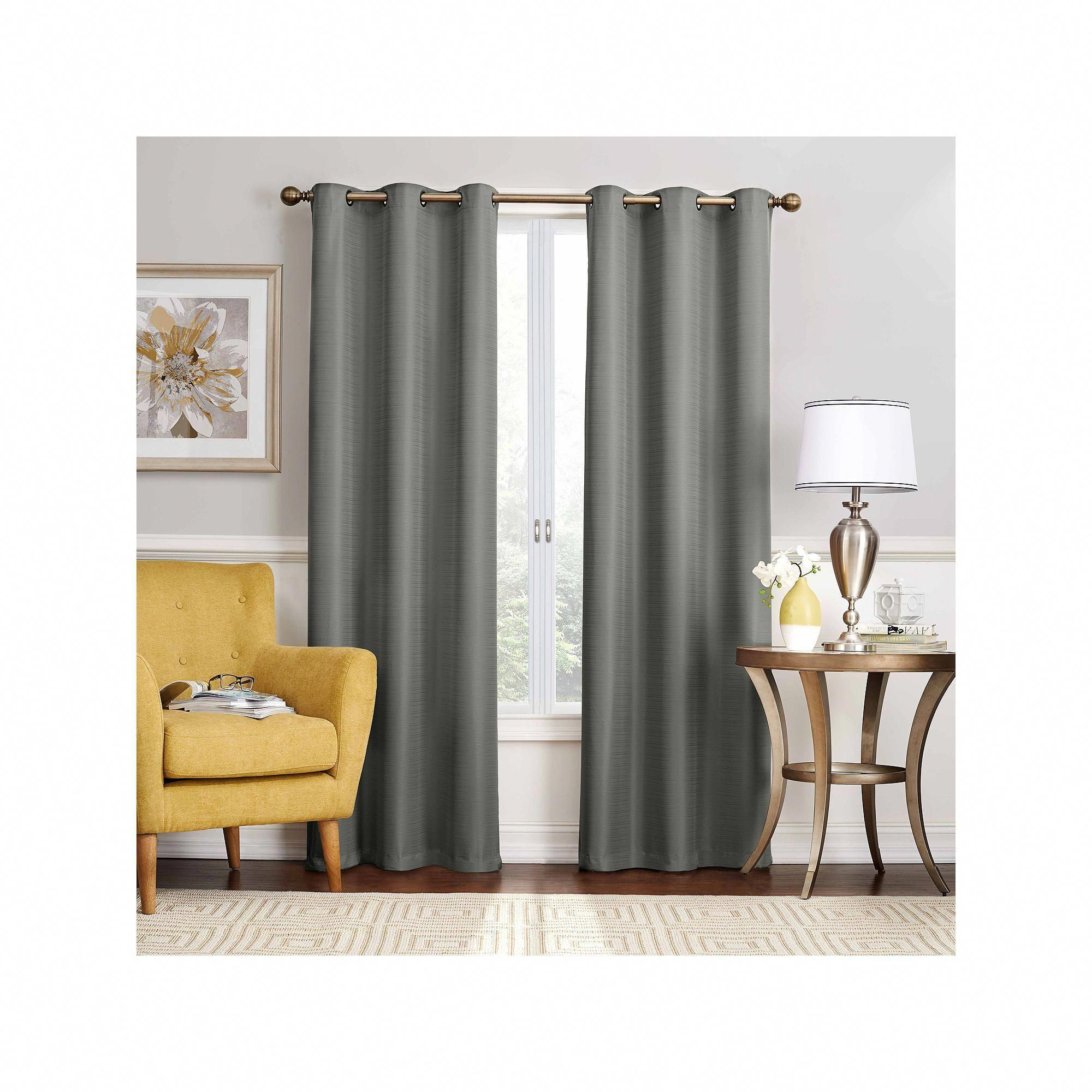 Eclipse Thermaback Blackout 1 Panel Nikki Window Curtain Grey