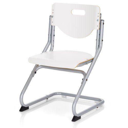 Kinderschreibtischstuhl  Kettler Schreibtischstuhl Kinder Chair Plus- Farbe: silber und wei ...