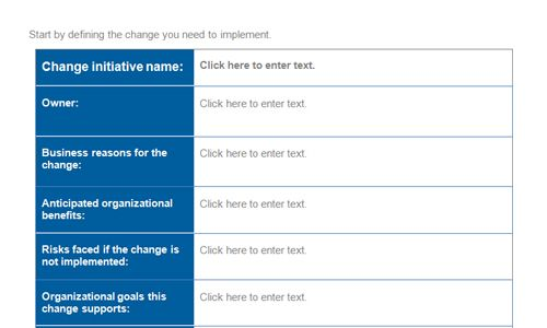 Change Management Planning Template Check more at